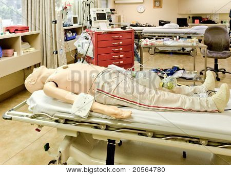 ACLS,full Mannequin On Bed.