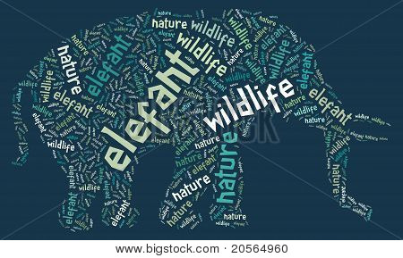 Wordcloud of elefant