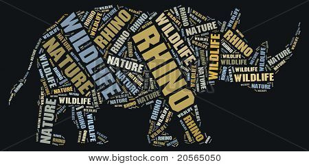 Wordcloud of rhino