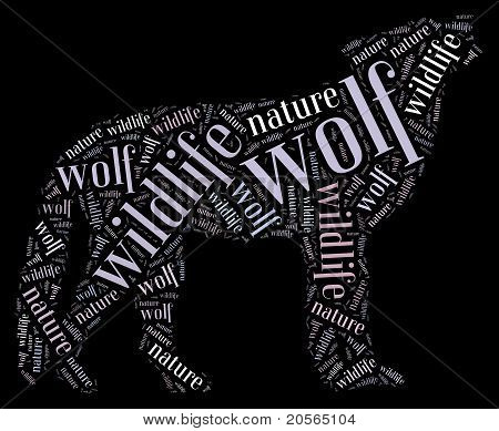 Worcloud of wolf