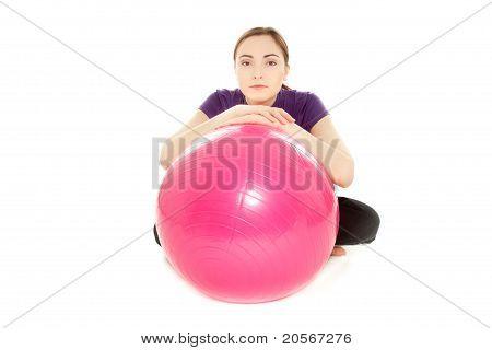 Woman With Gymnastics Ball