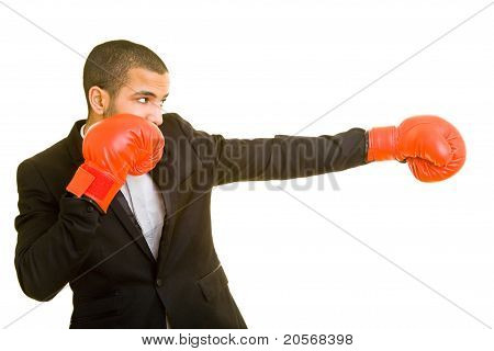 Business Man Boxing