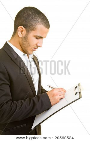 Business Man Taking Notes