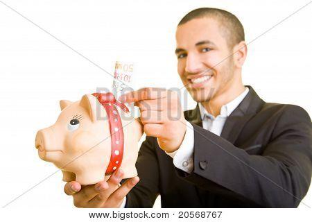 Manager Saving Euro Money