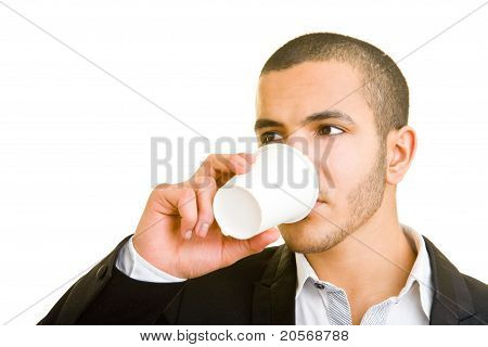 Manager Drinking Coffee