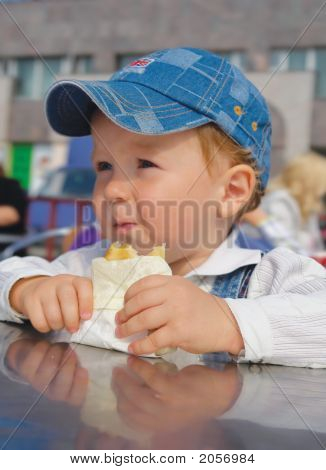 Boy Eating Cake