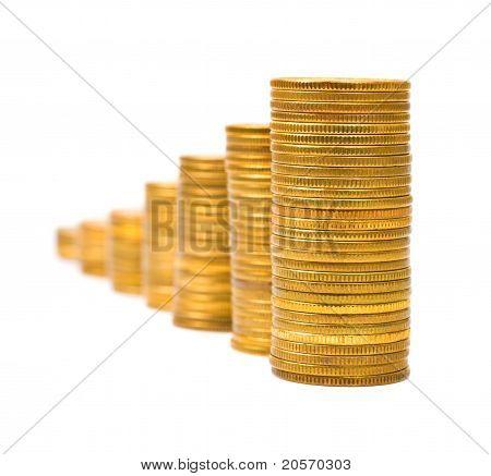 Escada de ouro, dinheiro