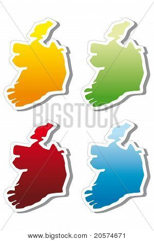 stickers in form of Ireland