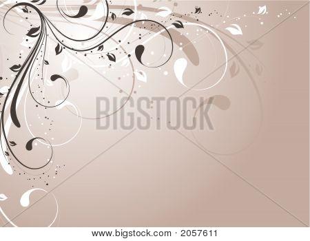 Floral Background. Vector Illustration