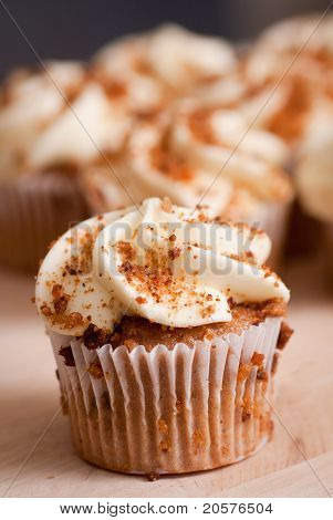 Photo of tasty cupcake in bakery