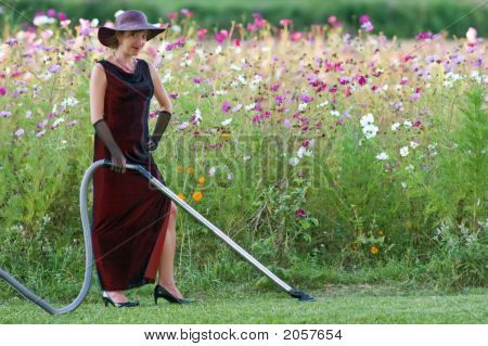 Housekeeper In Flower Bed