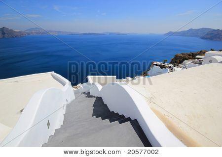 Streets of  Santorini island Greece