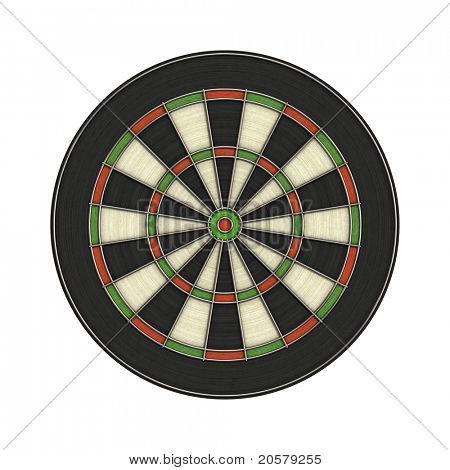 An image of a dartboard without numbers
