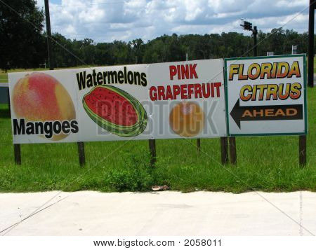 Fruit Stand Signs