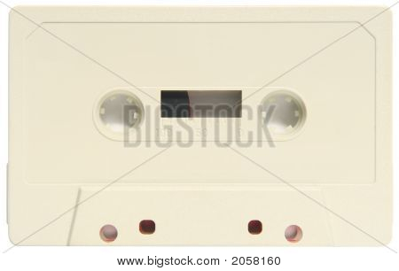An Old Blank Audio Cassette.