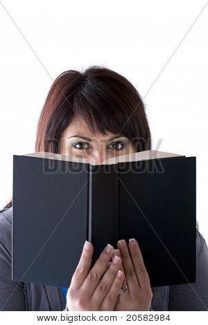 Book Reader Peeking