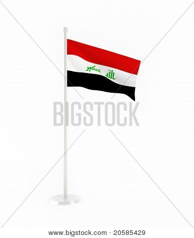 3D Flagge des Irak