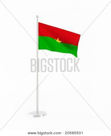3D flag of Burkina Faso