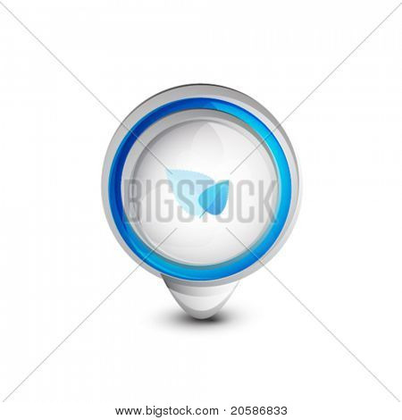 3d vector design element isolated on white