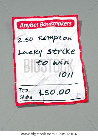 Crumbled Custom Designed Betting Slip