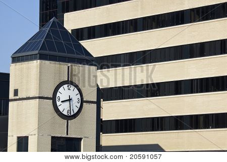 Clock Tower Next To The Hospital