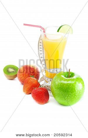 Juice,apple,strawberry,peach