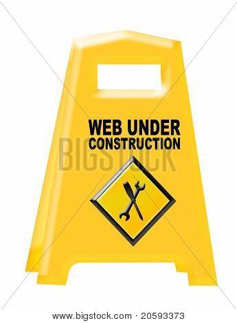 Web Under Constrution Sign
