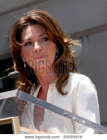 LOS ANGELES - JUN 2:  Shania Twain at the Shania Twain Hollywood Walk of Fame Star Ceremony at W Hotel Sidewalk on June 2, 2011 in Los Angeles, CA