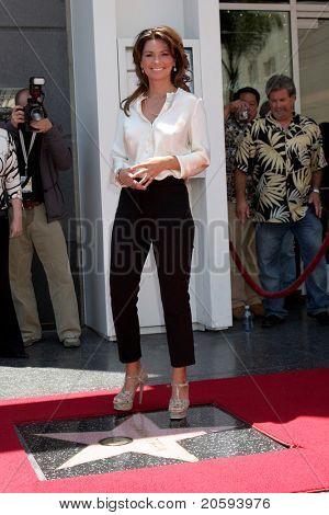 LOS ANGELES - JUN 2:  Shania Twain at the Shania Twain Hollywood Walk of Fame Star Ceremony at W Hotel Sidewalk on June 2, 2011 in Los Angeles, CA