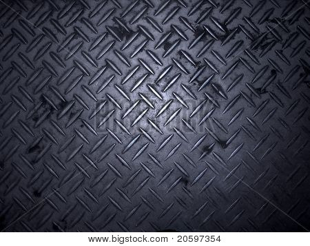 Texture of metal non-slip treads plate.