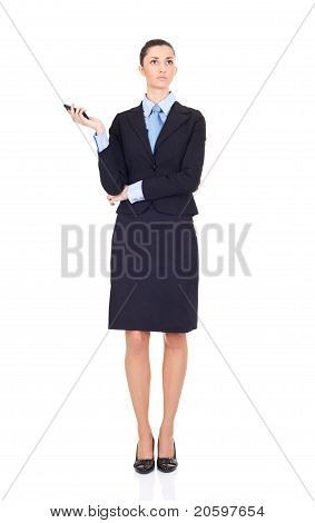 Business Woman Expect Call