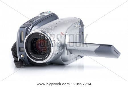 HDV camcoder isolated on white background