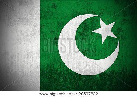 Resistido la bandera de Pakistán, texturada de la tela
