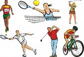 individual sports figures - outdoor