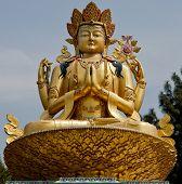 pic of tantric  - Statue of Chenrezig from Kathmandu Buddha Park Swayambhu - JPG