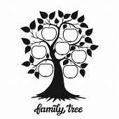 Family Tree Illustration With A Title poster