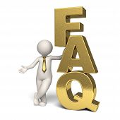 Faq Icon - Gold - 3D Business Man