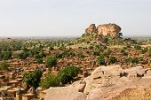 picture of dogon  - A panorama of Dogon tribe village Songo in Mali - JPG