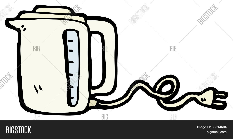 electric kettle cartoon Stock Photo & Stock Images  Bigstock ~ Wasserkocher English