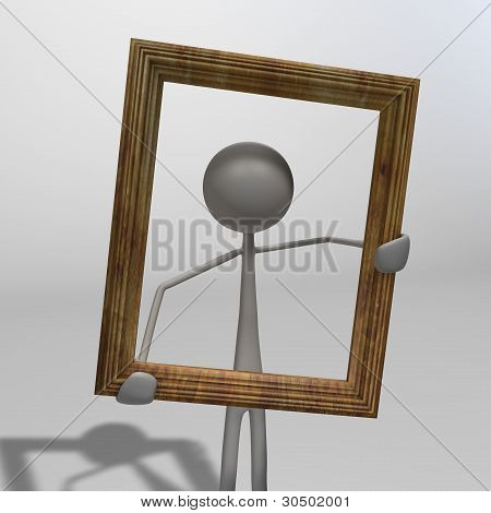Figure With Picture Frame