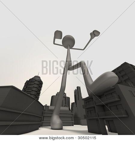 Stickman - City - Low-angle Shot