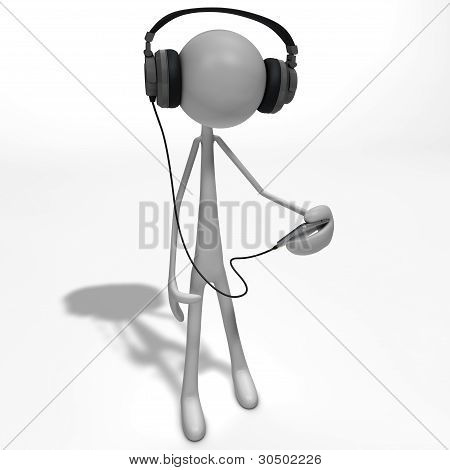 Figure Listening To Music