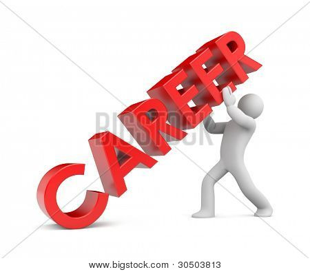 Career. Ladder to success. Image contain clipping path