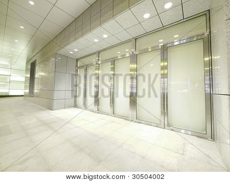 Door and walkway
