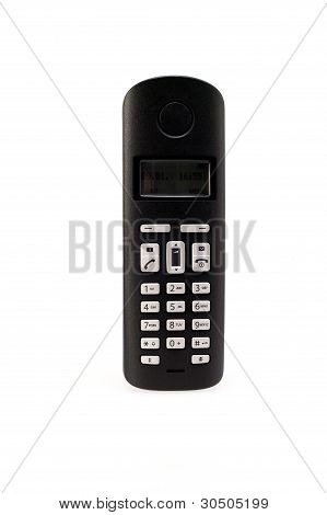 Wireless Phone Set Isolated Over White