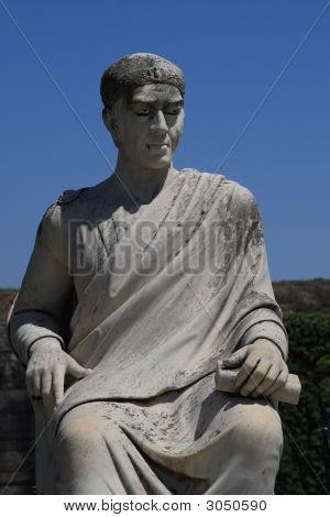 Statue On Corfu Island Greece