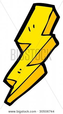 lightning bolt cartoon