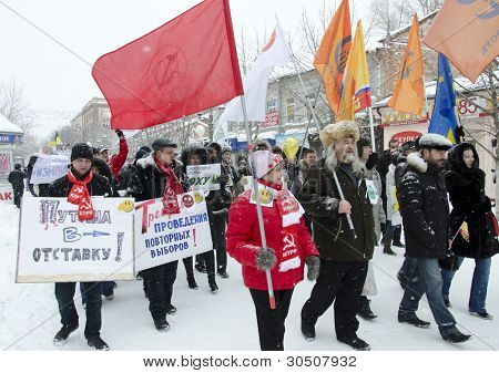 Opposition rally in the city of Saratov.