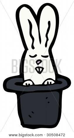 white rabbit in hat cartoon