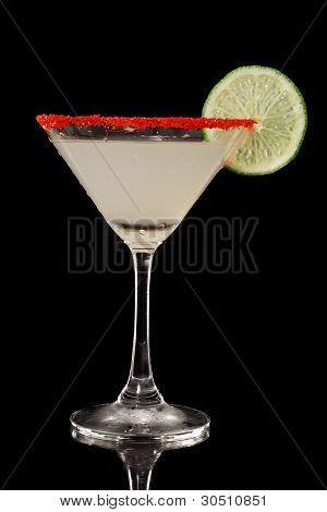 Key Lime Martini With Red Sugar